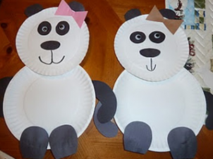 Panda Bear Paper Plate Craft