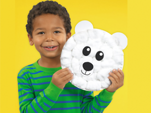 Polar Bear Paper Plate Craft