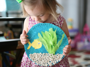 Fish Bowl Paper Plate Craft