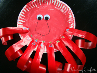 Octopus Paper Plate Craft