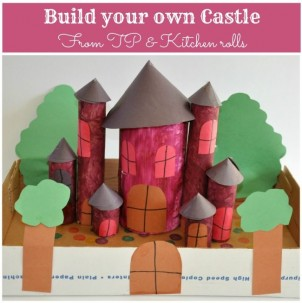 Castle Project Made With Paper Rolls