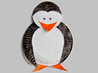 Penguin Paper Plate Craft