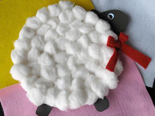 Sheep Paper Plate Craft